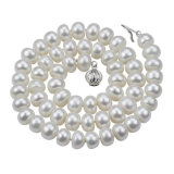 2016 8mm Button AAA Nice White Choker Pearl Necklace