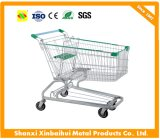 Cheap Four Wheels Supermarket Shopping Trolley /Metal Shopping Trolley Cart with Baby Seat