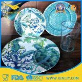 Cheap Hot Custom Plastic Melamine Round Dish Set