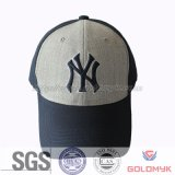Fashion 6 Panel Cuaton Baseball Cap with Woven Label Wholesale