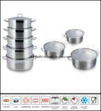 Stainless Steel Low Pot Set