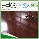 8mm Red Merbau 3 Strips Waxed Water Proof HDF Embossed Surface Laminate Flooring