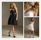 Hot Selling New Arrival Knee Length A-Line Sweetheart Neckline Lace Bridesmaid Dress (MI 3509)