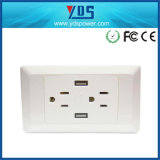 New Design Hot Sell AC Wall Socket with USB Ports