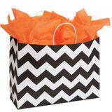 Large Classic Chevron Paper Shopper Packaging Bags