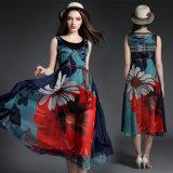 Bohemia Beach Dress Slim Design Was Made of Silk