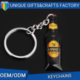 2017 Latest Mini Metal Bottle Key Chain Charms Acrylic Keychain