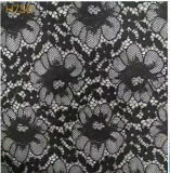 Flower Pattern Black Lace Fabric (with oeko-tex standard 100 certification)