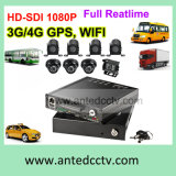 4 Channel or 8CH HDD Full HD Mobile Car DVR with GPS Tracking WiFi