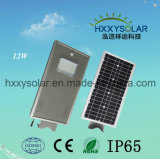 12W Waterproof IP65 Integrated All-in-One 18V LED Solar Street Light