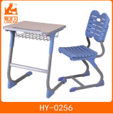 Metal School Student Studying Table with Plastic Chair