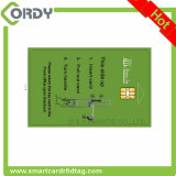 full color printed sle4442 contact chip card for ISO 7816
