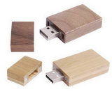 Square Red Wine Color Wooden Stick USB Flash Drive (EW005)