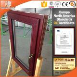 European Style Aluminium Red Oak Wood Tilt/Turn Window