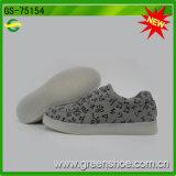 Wholesaler Men Canvas LED Shoes Rechargeable