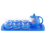 Glass Tea & Coffee Set in 5PCS (103428-4)