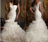 Lace Beadded Bridal Wedding Dresses (NWD1003)