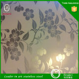 201 304 430 Color Mirror Etched Decorative Stainless Steel Sheet From China