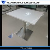 White Square Fast Food/Restaurant Artificial Marble Table
