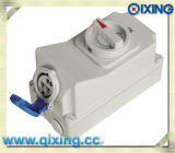 Industrial Socket with Interlock Switch with CE Certification (QX7002)