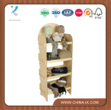 OEM Free Standing Wooden Display Rack with Knock Down Design