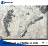 Polished Artificial Quartz Slab for Table Top/ Counter Top with High Quality (Marble colors)