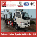 Small Hook Arm Dongfeng Garbage Truck 125HP 4 Cbm Roll Rubbish Vehicle