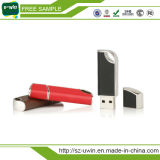 Best Promotional Gift Leather USB Flash Drive Free Hot Stamping Logo