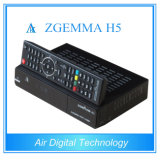 Newest Zgemma H5 Original Satellite Decoder Combo DVB S2 + DVB T2/C Support Hevc/H. 265