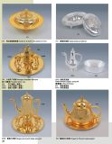 Luxury Chinese Stype Golden and Silver Tableware for Hotel Banquet