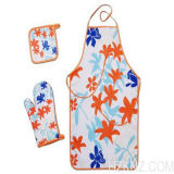 Custom Printing Polyester Kitchen Apron Set for Food Processing