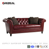 Living Room Bridgewater Leather Sofa (OZ-SF-041)