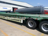 40-60ton 3 Axle Extendable Low Bed Trailer / Low Flatbed Truck Semi Trailer / Low Boy Truck Semitrailer