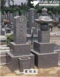 Granite Stone Monument / Tombstone with Custom Design - Tt36