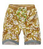 Men′s Slim Fit Full Flower Pure Cotton Beach Pants