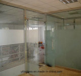 Tempered Glass Door with Acid Etched Pattern