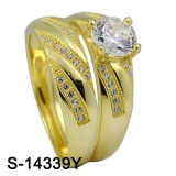 Fashion 925 Sterling Silver Jewelry Wedding Ring (S-14339, S-14339Y) _