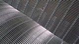 Architectural Woven Metal Wire Mesh Facades--Tec-Sieve Multi-Barrette Weave/Cable Mesh System