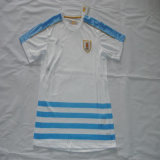 2016/2017 Uruguay Away White Soccer Jersey
