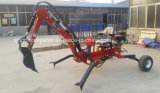China Factory Supply High Quality Ce Approved 9HP Gasoline Mini Towable Backhoe