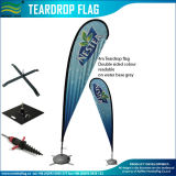 4m Teardrop Flags 120GSM Knitted Polyester Printing Through Beach Flags (J-NF06F06001)