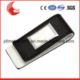 Hot Sale Stainless Steel Printing Logo Money Clip Leather