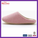 Pure Color Soft Ramie Indoor Slippers