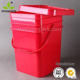 Square Bucket 20 L Square Plastic Bucket Black Pail 20 Liter Plastic Pail