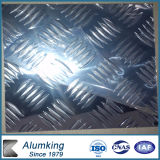 Five Bar Pre-Cutted Chequer Aluminium Plate for Bus Floor