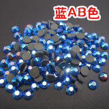 Wholesale Blue Ab Hotfix Rhinestone Crystal for Decorate (SS12 Blue AB/3A grade)