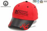 Embroidered Fashion Baseball Cap with Leather Visor