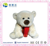 Adorable Scarf Bear Plush Toy 30cm Light Yellow
