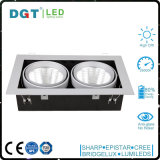 2*30W Recessed Rectangle Adjustable LED Grille Light