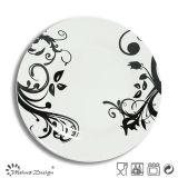 White Porcelain Wholesale Full Decal Dinner Plate